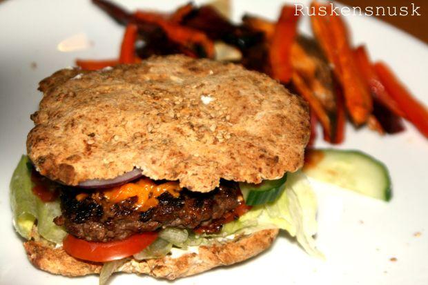 Glutenfri hjemmelavet burger